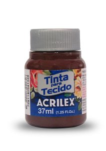 Tinta de Tecido Fosca Acrilex - 37ml Terra Queimada