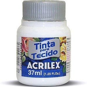 Tinta de Tecido Fosca Acrilex - 37ml Branco