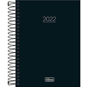 Agenda Diária 2022 Tilibra Pepper Espiral Preta 160fls 1 Uni