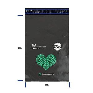 Envelope Personalizado Cinza Sem Bolha 20x30 - Seu Logo