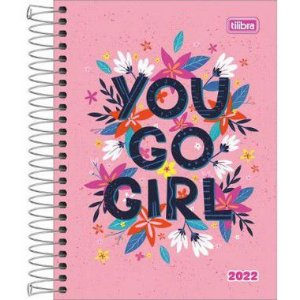 Agenda Espiral Diária Pepper Feminina You Go Girl 2022 160fls Tilibra