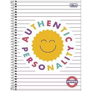 Caderno Espiral Capa Dura Universitário Pepper Feminina Authentic Personality 10 Matérias 160flhs Tilibra