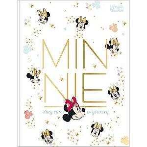 Caderno Brochura Capa Dura Universitário Minnie Estrelinhas 80 Folhas Tilibra