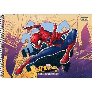 Caderno Espiral Capa Dura Cartografia E Desenho Homem Aranha Vermelho 80 Folhas Tilibra