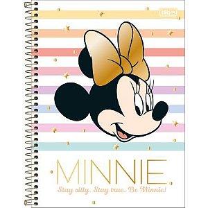 Caderno Espiral Capa Dura Universitário Minnie Capa Listrada 1 Matéria 80flhs Tilibra