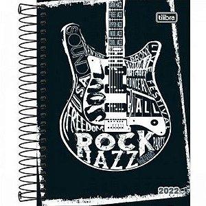 Agenda Espiral Diária Pepper Masculina Guitarra 2022 160fls Tilibra