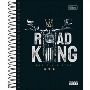 Agenda Espiral Diária Pepper Masculina Road King 2022 160fls Tilibra