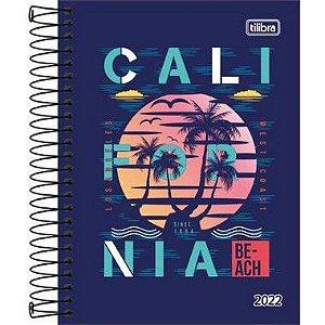 Agenda Espiral Diária D+ Masculina 2022 176 fls Tilibra California