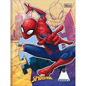 Caderno De Caligrafia Brochura Capa Dura Spider-Man Vermelho 40 Folhas