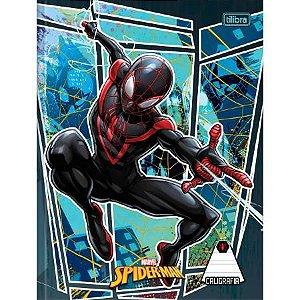Caderno De Caligrafia Brochura Capa Dura Spider-Man Preto 40 Folhas