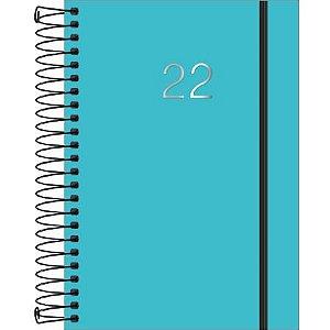 Agenda Espiral Diária Neon Azul 2022 176 fls Tilibra 1 Unidade