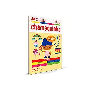 Papel Sulfite A4 Colorido Chamequinho 75 g 4 cores - Chamex