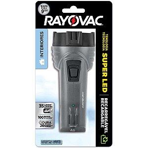 Lanterna Super Led Mini Recarregável Bivolt Rayovac