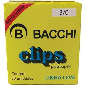 Clipe galvanizado Aco 3/0 Linha Leve C/50 Unid. Bacchi
