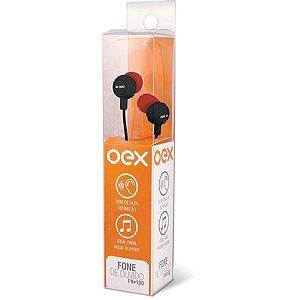 Fone de ouvido Intra Auricular Newex - Preto C/ Vermelho