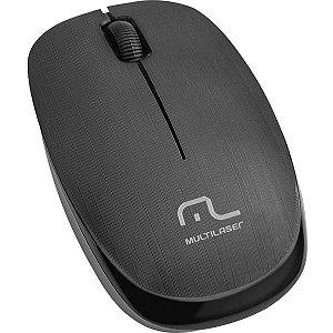 Mouse otico sem fio 1200dpi 2.4ghz Preto Multilaser
