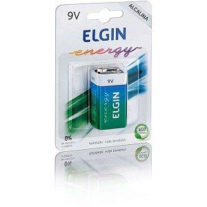 Pilha/bateria (9V) Alcalina 9v Blister Com 01 Unidade. Elgin
