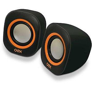 Caixa de som para computador Speaker Round 8w Usb/P2 Pt/Lj