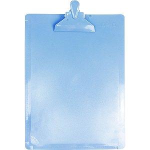 Prancheta Plástica Oficio Serena Azul Pastel - Dello
