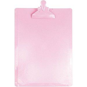 Prancheta Plástica Oficio Serena Rosa Pastel - Dello