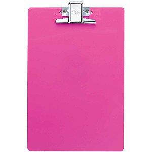 Prancheta Plástica Super Metal Rosa Waleu