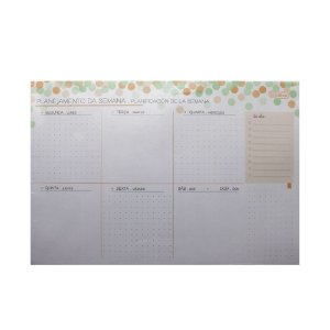 Agenda permanente Soho Bloco Planner Semanal - 52 folhas - Tilibra