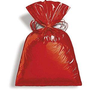 Saco metalizado 50 x 70 cm Vermelho Cromus Pacote C/ 25 Unidades