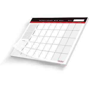Agenda permanente Planner Mesa Mensal 20 folhas. Pauta Branca