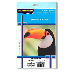 Papel fotográfico inkjet A4 Glossy 115g Masterprint - Pacote C/ 50