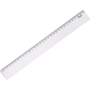 Regua de poliestireno New Line Cristal 30cm. Waleu