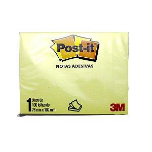 Post-it Bloco de recado 657 Amarelo 76x102mm
