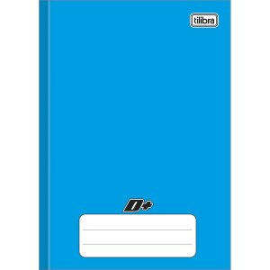 Caderno Brochura 1/4 Capa Dura Azul D+ 48 Folhas - Tilibra