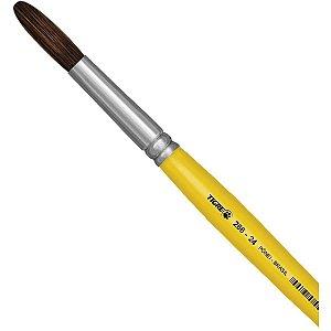 Pincel Escolar Redondo 266 N.24 Amarelo - Pinceis Tigre