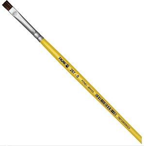 Pincel Escolar Chato 267 N.00 Amarelo - Pinceis Tigre