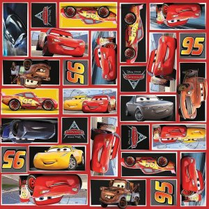 Saco Metalizado 30x45cm Cars 3