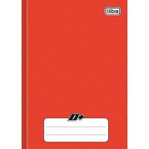 Caderno Brochura 1/4 Capa Dura D+ 96 Folhas Vermelho