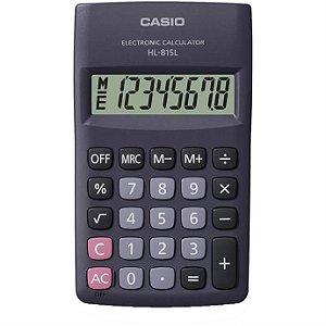 Calculadora De Bolso 8digitos Preta Hl-815l-Bk-S4-D