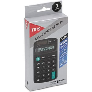 Calculadora De Bolso Tris T401 8 Digitos Pilha Aa - Summit