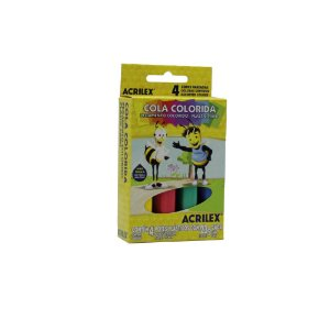 Cola Colorida Acrilex 04 Cores 23g