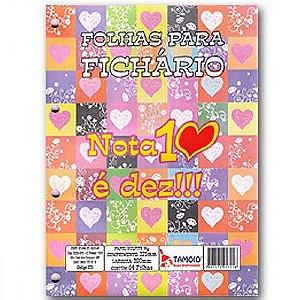 Folha de Fichário Nota 10 é dez 64fls Tamoio