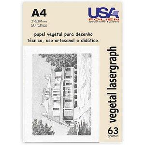 Papel Vegetal A4 60g. 210x297mm Usa Folien Pct C/ 50 Un
