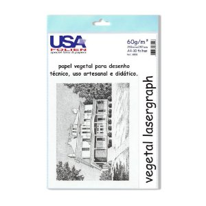 Papel Vegetal A4 60g. 210x297mm. Usa Folien Pct C/ 10