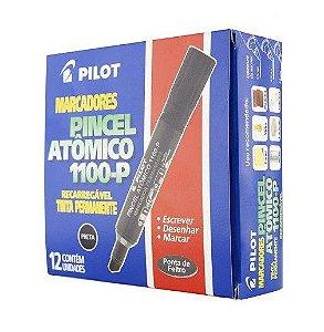 Pincel marcador permanente atomico 1100p preto recarreg. Pilot