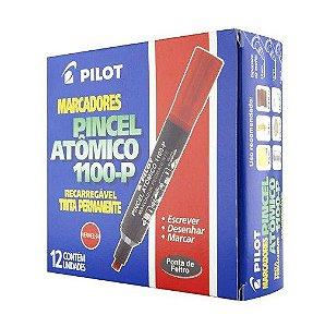 Pincel marcador permanente atomico 1100p vermelho Pilot