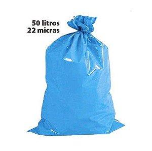 Saco para lixo 050l azul 22 micras rolo c/ 50 altaplast