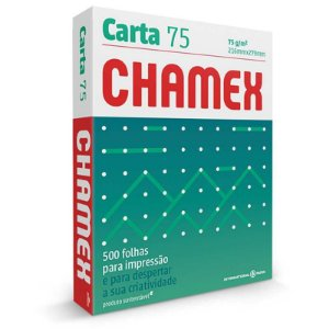 Papel Sulfite Carta Chamex 75g 500 Fls