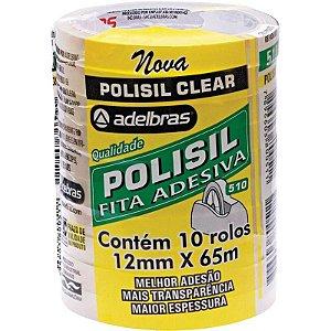 Fita Adesiva Polisil 12mmx65m.Transparente Adelbras