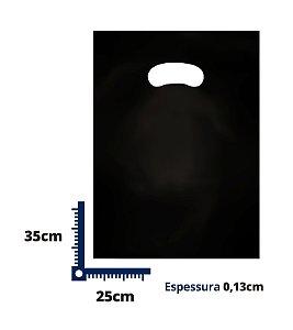 Sacola Boca de Palhaço Preta 25x35 0,13