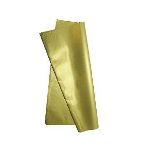 Papel De Seda Ouro 48x60cm. Pct.C/20 Novaprint