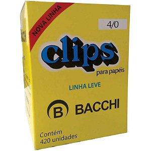 Clips Galvanizado Aço 4/0  Caixa 420 Un - Bacchi - Linha Leve